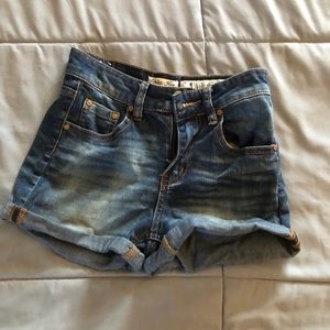 Pants - Medium wash jean shorts